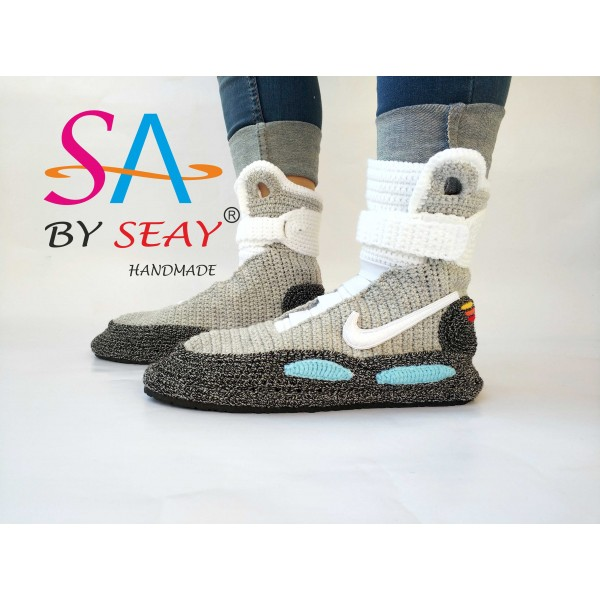 free shipping a0ab7 78f2a Back to the Future Marty Mcfly Air Mag Sneakers, BySeay