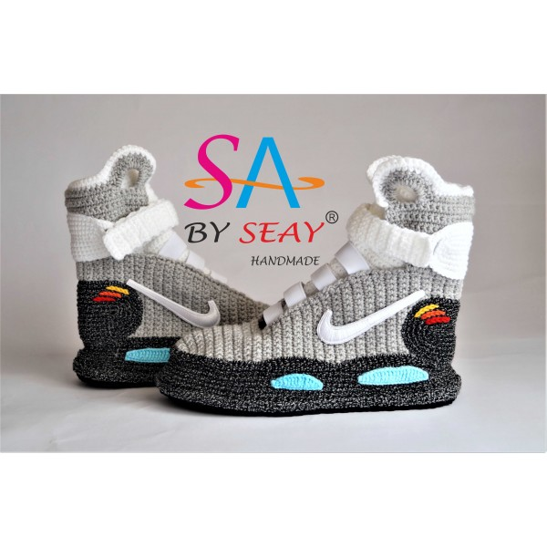 Back to the Future Knitted Slippers, Crochet Knitt...