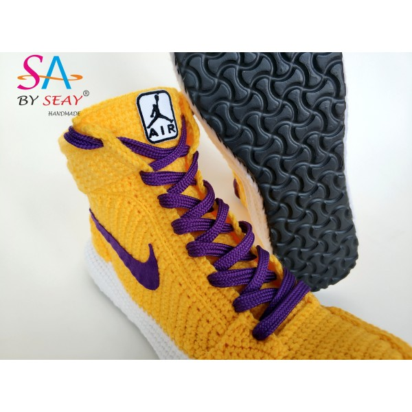 8ce4da05d36 Handmade Knitting Style Air Jordan 1 Retro High&qu.