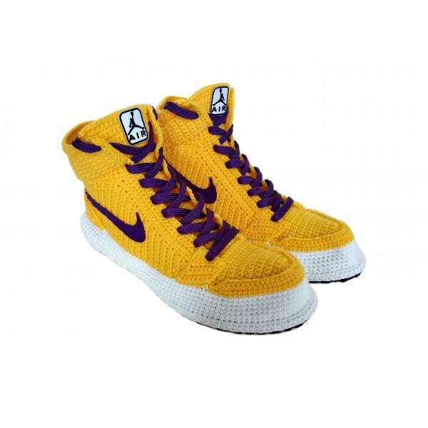 Handmade Knitting Style Air Jordan 1 Retro High&qu...